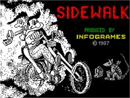 Title screen of Sidewalk on the Sinclair ZX Spectrum.