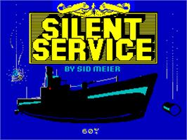 Title screen of Silent Service on the Sinclair ZX Spectrum.