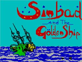 Title screen of Sinbad & the Golden Ship on the Sinclair ZX Spectrum.