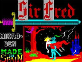 Title screen of Sir Fred on the Sinclair ZX Spectrum.