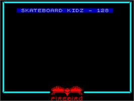 Title screen of Skateboard Kidz on the Sinclair ZX Spectrum.