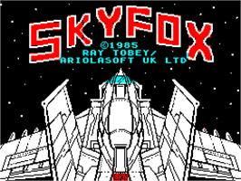 Title screen of Skyfox on the Sinclair ZX Spectrum.