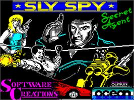Title screen of Sly Spy: Secret Agent on the Sinclair ZX Spectrum.