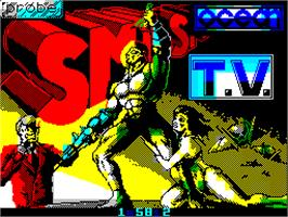 Title screen of Smash T.V. on the Sinclair ZX Spectrum.