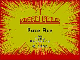 Title screen of Space Ace on the Sinclair ZX Spectrum.