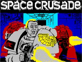Title screen of Space Crusade on the Sinclair ZX Spectrum.