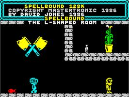 Title screen of Spellbound Dizzy on the Sinclair ZX Spectrum.