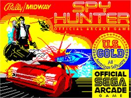 Title screen of Spy Hunter on the Sinclair ZX Spectrum.