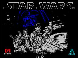 Title screen of Star Wars: Return of the Jedi on the Sinclair ZX Spectrum.