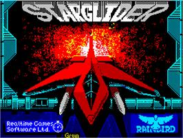Title screen of Starglider 2 on the Sinclair ZX Spectrum.