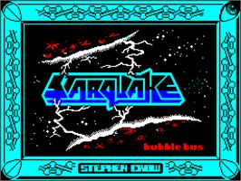 Title screen of Starquake on the Sinclair ZX Spectrum.