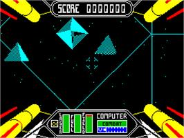 Title screen of Starstrike II on the Sinclair ZX Spectrum.