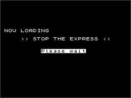 Title screen of Stop the Express on the Sinclair ZX Spectrum.