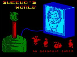 Title screen of Sweevo's World on the Sinclair ZX Spectrum.