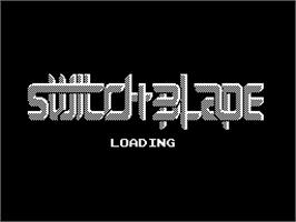 Title screen of Switchblade on the Sinclair ZX Spectrum.