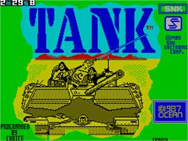Title screen of Tank on the Sinclair ZX Spectrum.