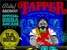 Title screen of Tapper on the Sinclair ZX Spectrum.