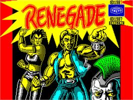 Title screen of Target: Renegade on the Sinclair ZX Spectrum.