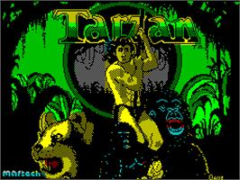 Title screen of Tarzan on the Sinclair ZX Spectrum.