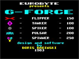 Title screen of Tempest on the Sinclair ZX Spectrum.