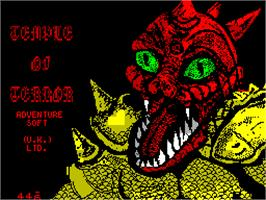Title screen of Temple of Terror on the Sinclair ZX Spectrum.