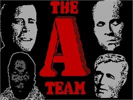 Title screen of The A-Team on the Sinclair ZX Spectrum.