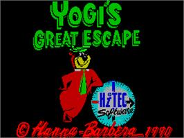 Title screen of The Great Escape on the Sinclair ZX Spectrum.
