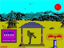 Title screen of The Ice Temple on the Sinclair ZX Spectrum.