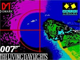 Title screen of The Living Daylights on the Sinclair ZX Spectrum.