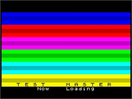 Title screen of The Master on the Sinclair ZX Spectrum.