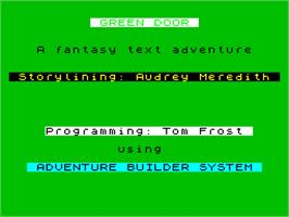 Title screen of The Trap Door on the Sinclair ZX Spectrum.