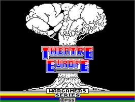 Title screen of Theatre Europe on the Sinclair ZX Spectrum.