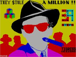 Title screen of They Stole a Million on the Sinclair ZX Spectrum.