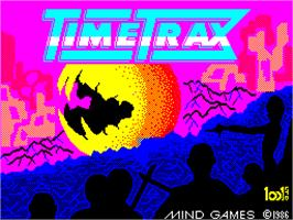 Title screen of Time Trax on the Sinclair ZX Spectrum.