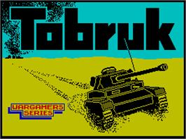 Title screen of Tobruk: The Clash of Armour on the Sinclair ZX Spectrum.