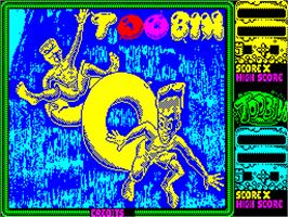 Title screen of Toobin' on the Sinclair ZX Spectrum.
