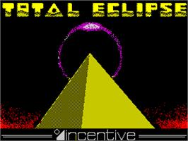Title screen of Total Eclipse on the Sinclair ZX Spectrum.