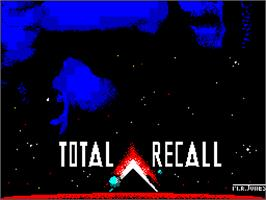 Title screen of Total Recall on the Sinclair ZX Spectrum.