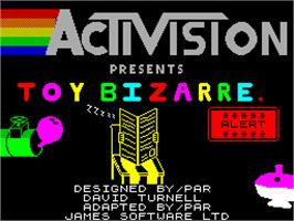 Title screen of Toy Bizarre on the Sinclair ZX Spectrum.