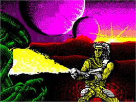 Title screen of Trantor the Last Stormtrooper on the Sinclair ZX Spectrum.