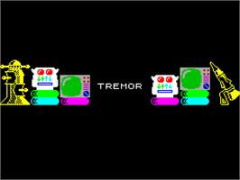 Title screen of Tremor on the Sinclair ZX Spectrum.