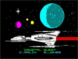 Title screen of Trivial Pursuit on the Sinclair ZX Spectrum.