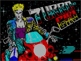 Title screen of Turbo Girl on the Sinclair ZX Spectrum.