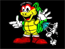 Title screen of Turbo the Tortoise on the Sinclair ZX Spectrum.