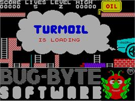Title screen of Turmoil on the Sinclair ZX Spectrum.