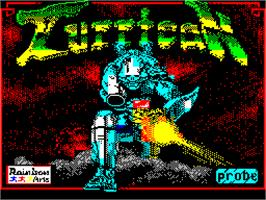 Title screen of Turrican on the Sinclair ZX Spectrum.
