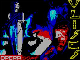Title screen of Ulises on the Sinclair ZX Spectrum.