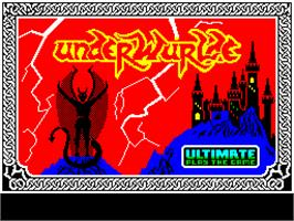Title screen of Underwurlde on the Sinclair ZX Spectrum.