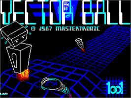 Title screen of Vectorball on the Sinclair ZX Spectrum.