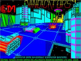 Title screen of Vindicators on the Sinclair ZX Spectrum.